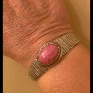 Rhodochrosite flex bracelet